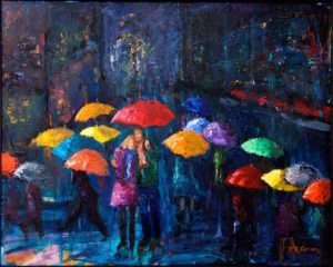 Lovers Walk in Paris Rain - Pamela Ramey Tatum