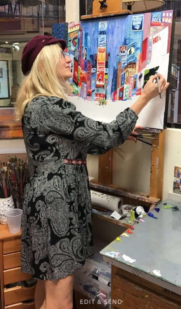 Pamela Ramey Tatum painting Times Square