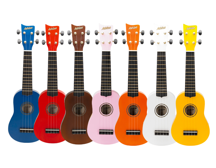 Multi Colored Ukuleles