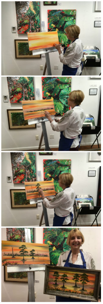 Hub artist Lynn Herrick says it's fun seeing what the colors do or don't do.