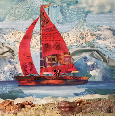 Collage from Recycled Magazines with Cindy Burkett 3/9/19