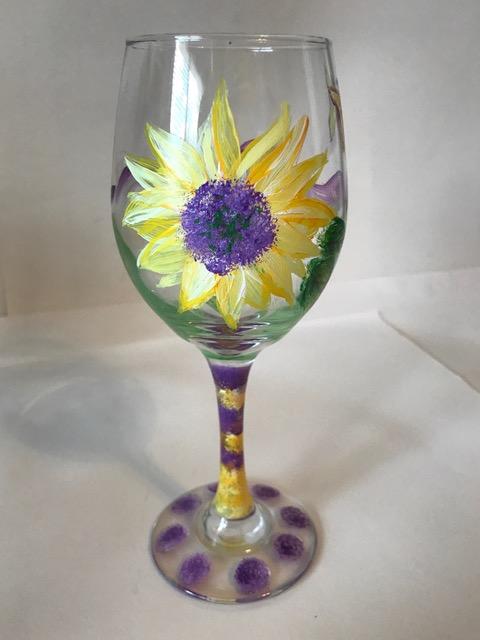 Wineglass Sunflower - Vera Rekstad