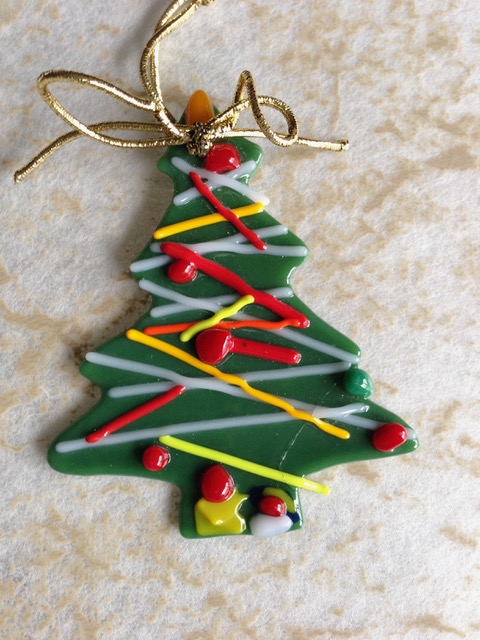 fused glass christmas ornaments with vera rekstad - Glass Christmas Ornaments