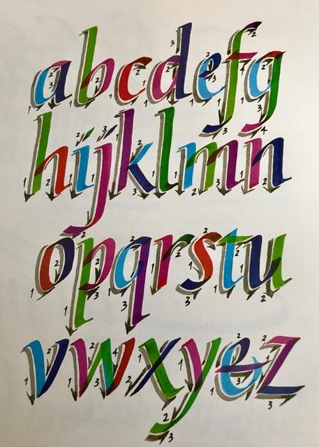 Vera Rekstad - Calligraphy