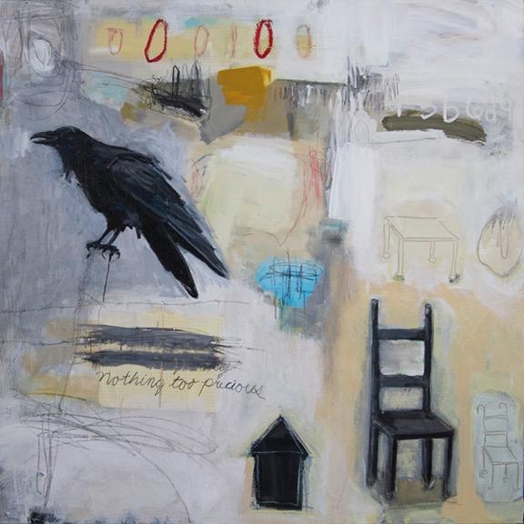 Everett, Charles_Nothing too precious_mixed media on canvas_30x30