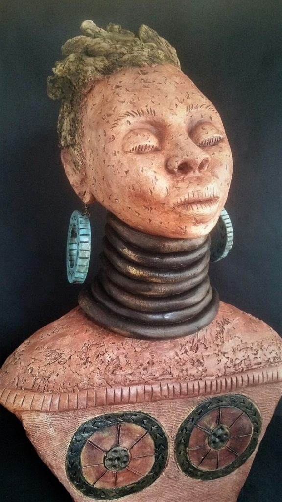 Smith, Katty_Woman of Padaung_Clay_59x12x9