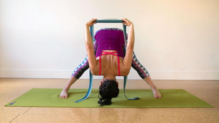 gentle yoga stock photo