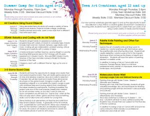 Summer Camp Workshops