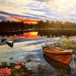 River Scene Artist Becki Shiles