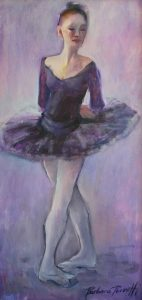 perrotti, barbara _ Ballerina _ Oil on Canvas _ 24 x 12_ $1500.