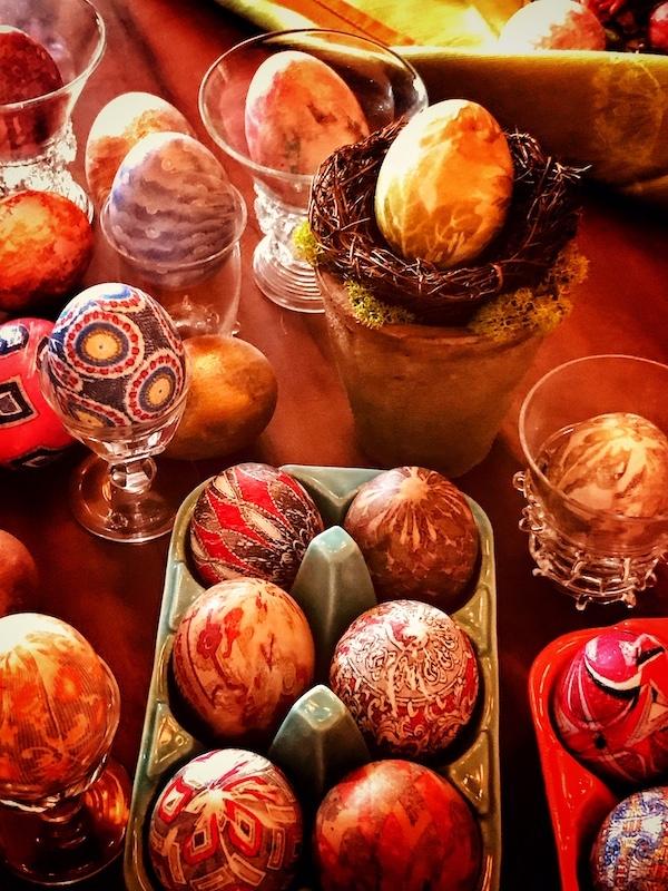 Easter Egg Silk Dye Decorating with Leslie Holland