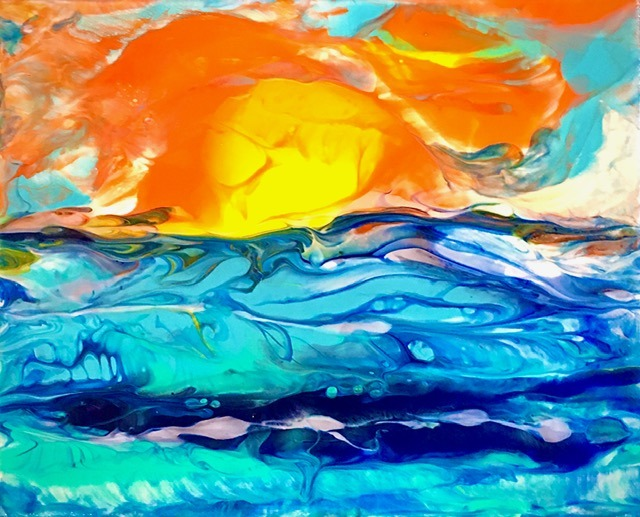 The Art of Abstract Poured Acrylics with Cindy Dennis