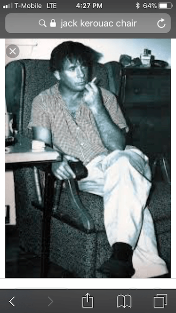 Jack Kerouac in Chair