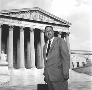 Thurgood Marshall on steps small