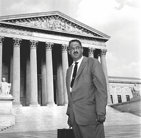 Thurgood Marshall on steps small