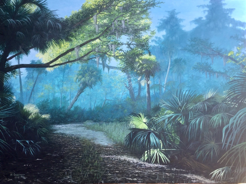 Art Exhibition - May - Alan Gessinger - Palms, Paths, and Peacefulness