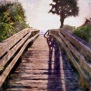 Ocean Walk watercolor