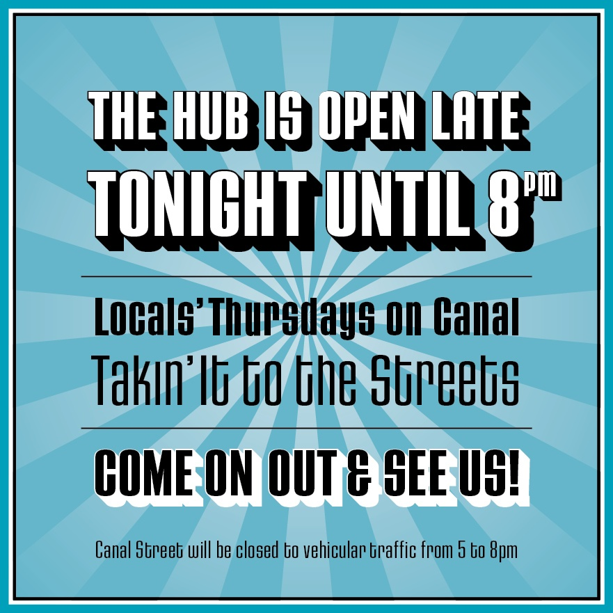 The Hub - open tonight IG+FB post 1