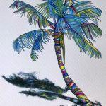 LizaMidgett Lizard's Colorful Day Giclee print 8x10 $30.