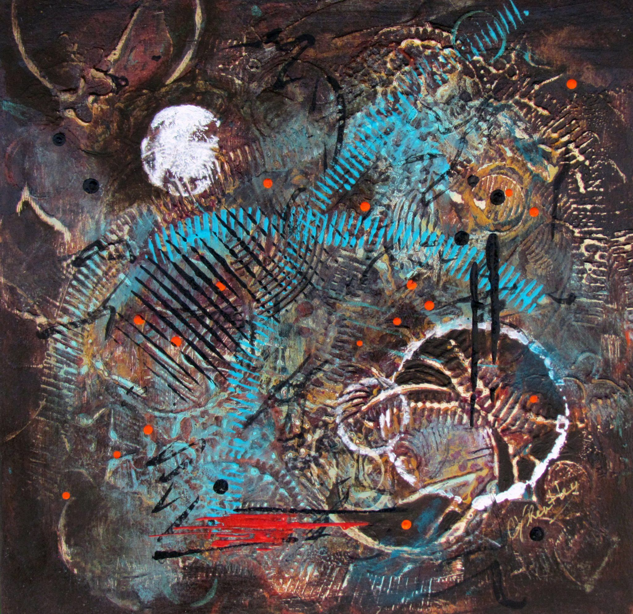 Wheatley,Helen_Unintended Consequences_Acrylic on Illustration Board_17x17