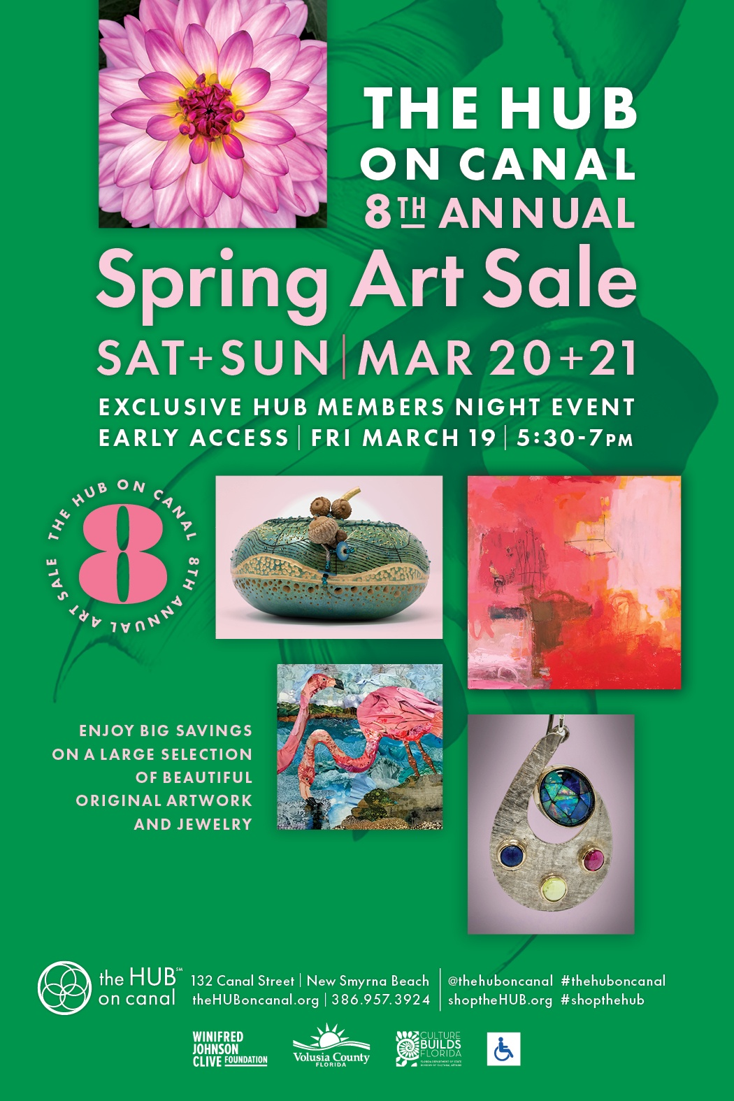 Spring Art Sale FB boost post 1
