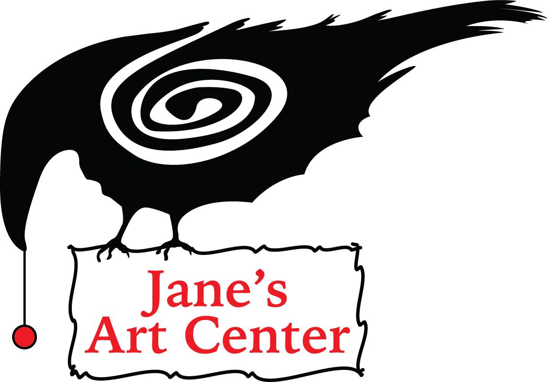 Janes Art Center std vert blk+red