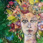 Riddle_Johanna_She Waits for the Garden_mixed media_19 x 25 (1)
