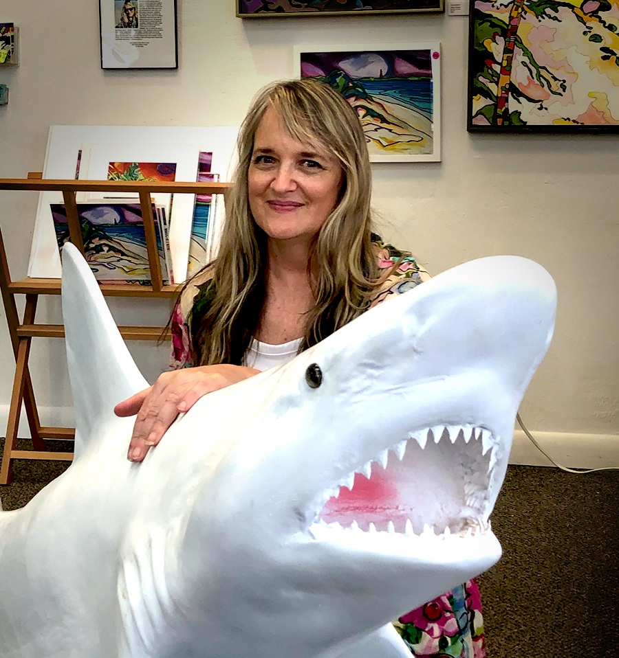 Eliza Midget and Sam the Shark
